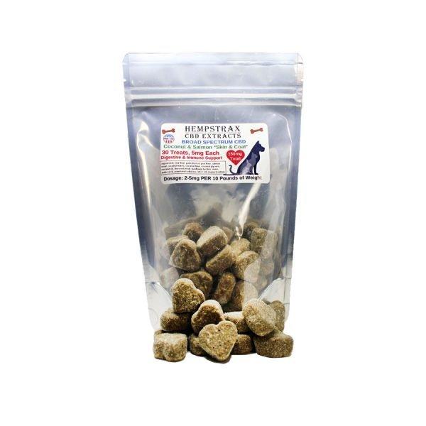 Hempstrax Coconut & Salmon CBD Pet Treats