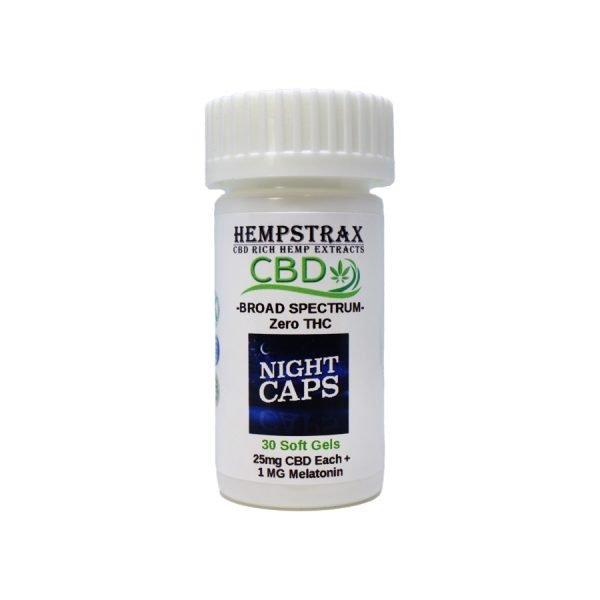 Hempstrax CBD Nighttime Capsules with Melatonin