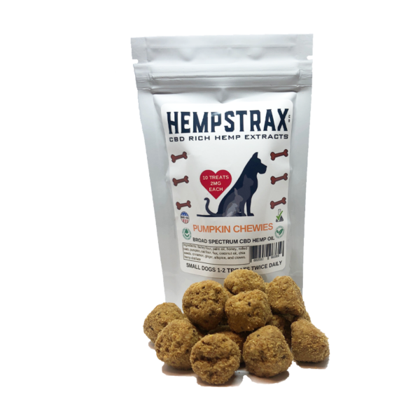 broad spectrum hemp pumpkin dog treats