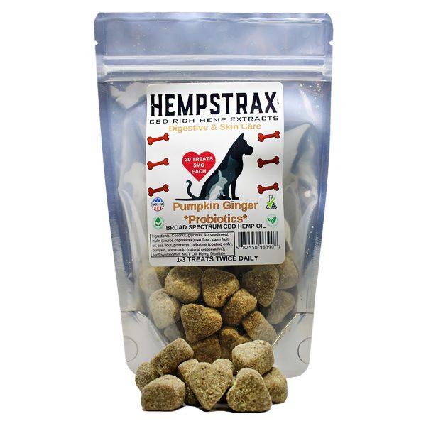 Hempstrax Pumpkin & Ginger Treats dog treats