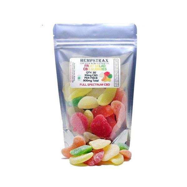 Hempstrax CBD Fruit Salad Gummies