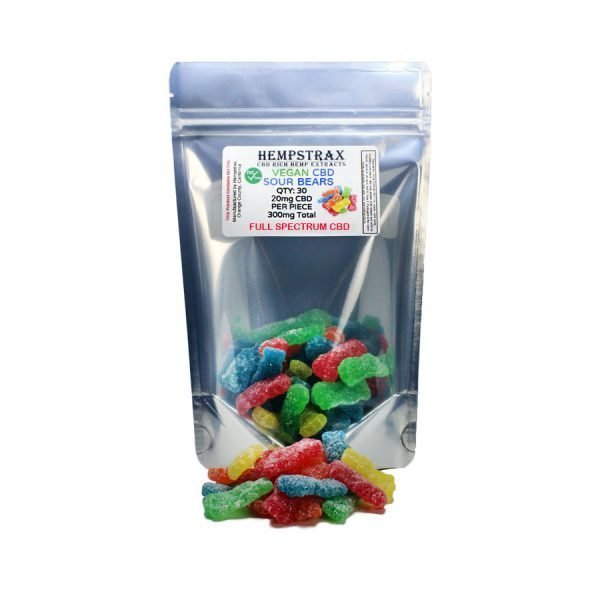 hemp sour gummy bears
