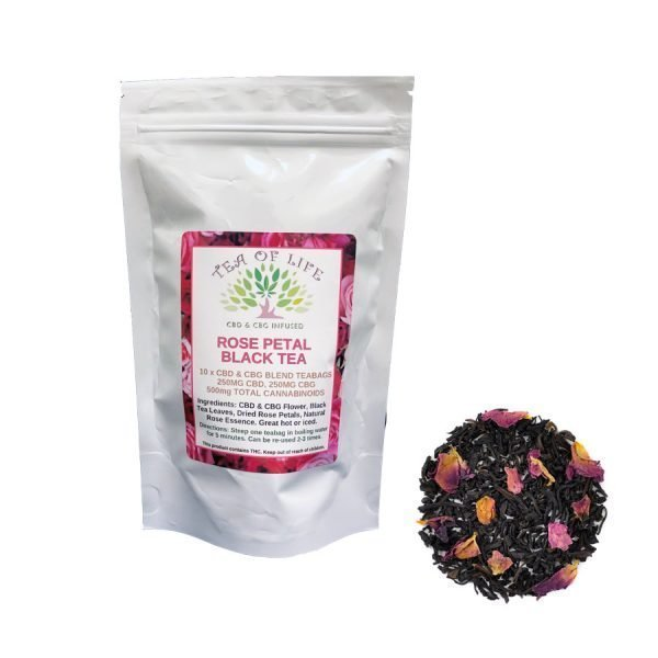 CBD & CBG Rose Petal Black Tea