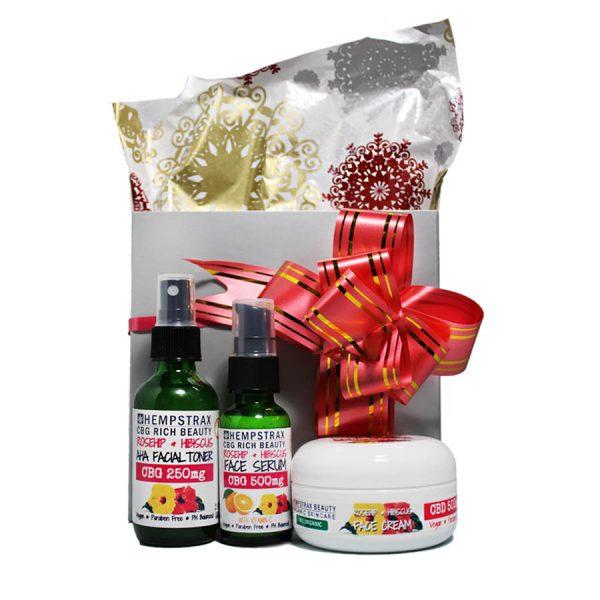 Hempstrax CBD Skincare Trio Gift Box